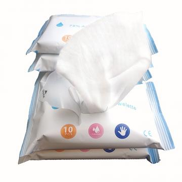 Cheap Custom Professional Spunlace Non-Woven Unscented Anti Bacteria Disposable Disinfectant 75% Alcohol Wet Wipe