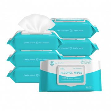 200pcs/barrel manufacturer customized 75% alcohol wipes for cleaning and disinfection wipes