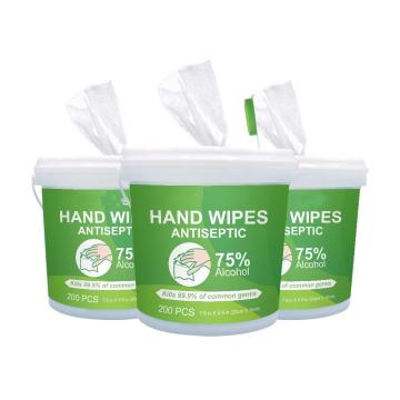 100/200/400/800/1000 Counts Disposable Alcoholic Sanitizing Disinfectant Wet Wipes Barrel