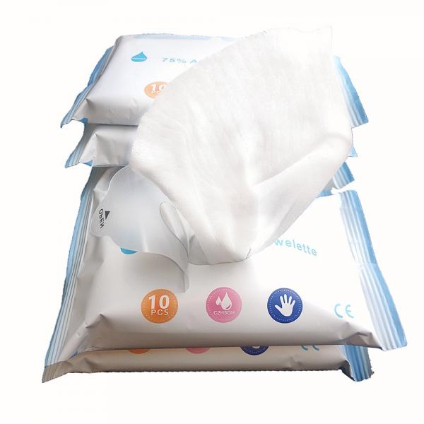 Disposable 70 PCS/Barrel 75% Alcohol Portable Antiseptic Disinfection Wet Wipes #1 image